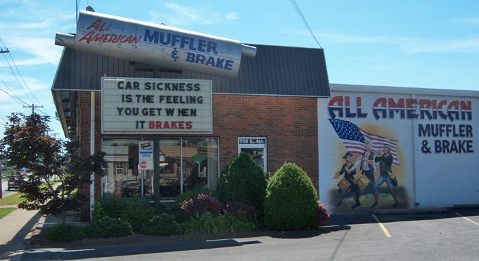 All American Muffler and Brake front office
